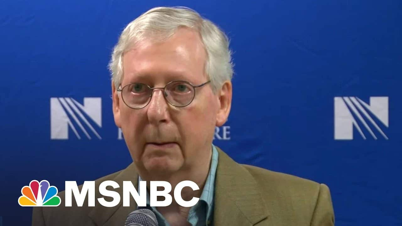 GOP's McConnell Implodes Over 'Woke' Companies & Jim Crow Law | The Beat With Ari Melber | MSNBC 7