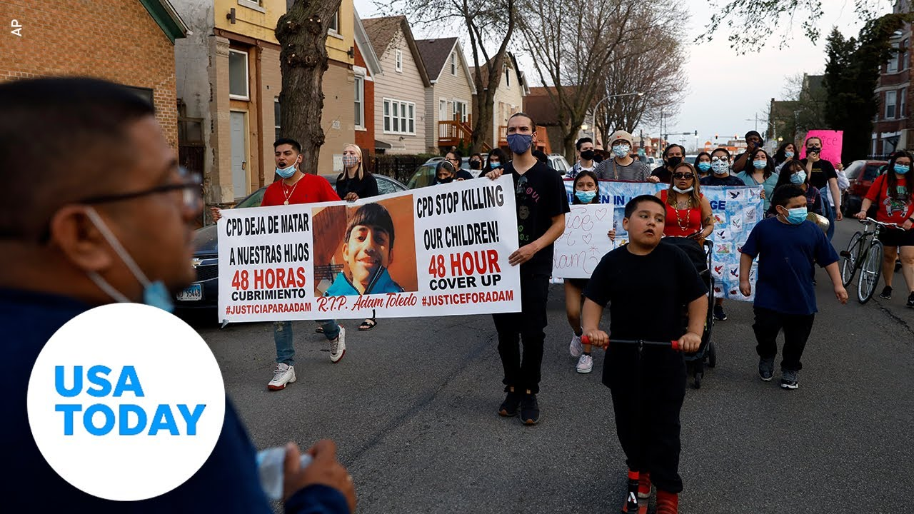 Police shooting of 13-year-old Adam Toledo addressed by his family   USA TODAY 6