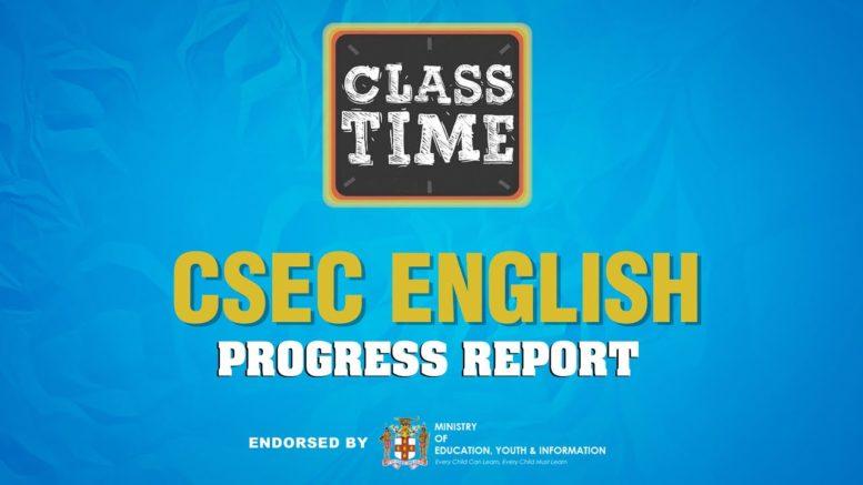 CSEC English - Progress Report - April 15 2021 1
