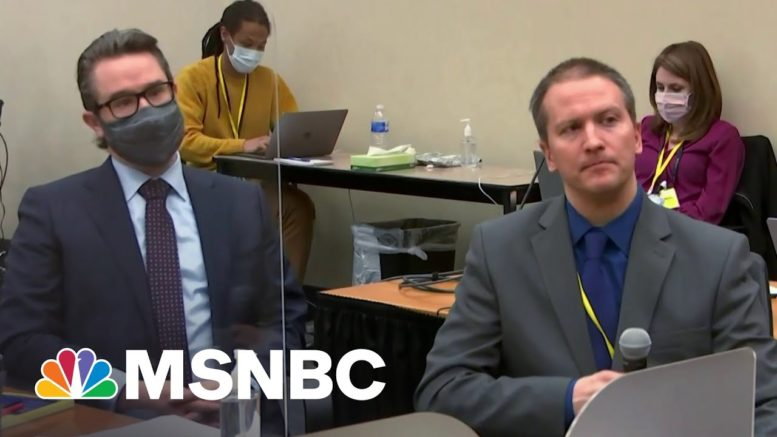 Chauvin Refuses To Testify At Trial | The 11th Hour | MSNBC 1