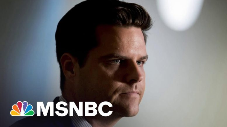 NYT: DOJ's Gaetz Inquiry Looking At Cash Paid To Women | The 11th Hour | MSNBC 1
