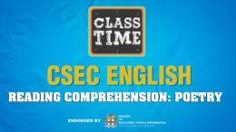 CSEC English - Reading Comprehension: Poetry - April 21 2021 1