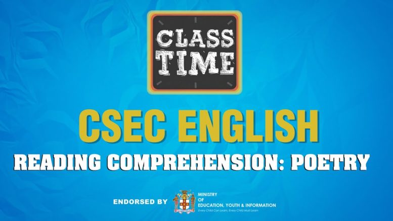 CSEC English - Reading Comprehension: Poetry - April 21 2021 1