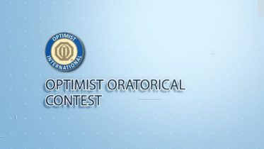 The Optimist Oratorical Competition - May 1, 5:30-6:30pm 6
