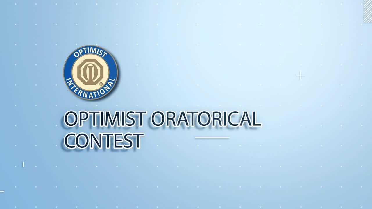 The Optimist Oratorical Competition - May 1, 5:30-6:30pm 1