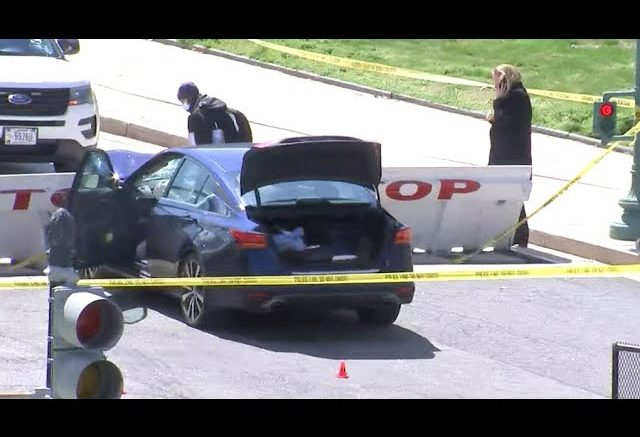 One officer and suspect dead after car rams into barricade at U.S. Capitol 1