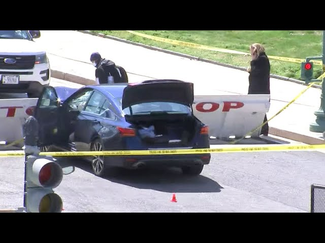 One officer and suspect dead after car rams into barricade at U.S. Capitol 6