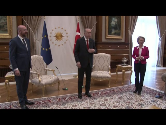WATCH: EU chief snubbed during visit with Turkish president 9