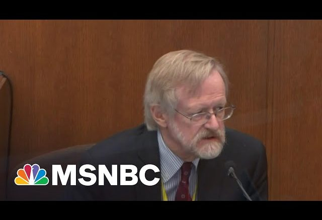 Pulmonologist At Chauvin Trial: Oxygen Deprivation Killed George Floyd | MTP Daily | MSNBC 1