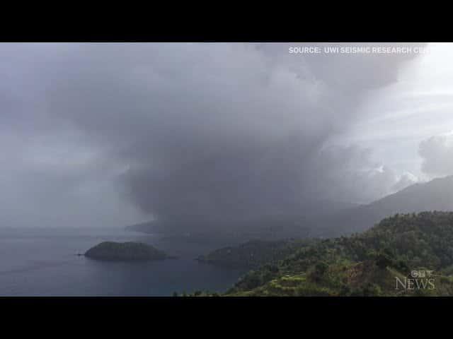 Volcano erupts on St. Vincent island 2