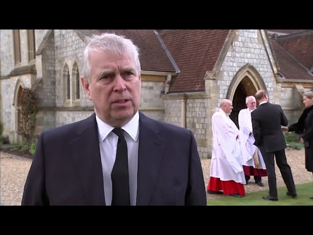 Watch Prince Andrew react to the death of his father, Prince Philip 5