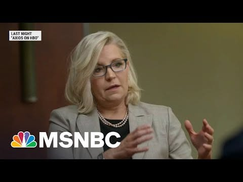 Rep. Cheney A Fringe Figure In The GOP, Says Axios Reporter | MSNBC 1