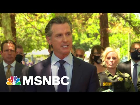 CA Governor Newsom Pleads For Gun Control At San Jose Briefing 9