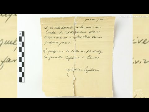 Message in a bottle dates from the Titanic era 1