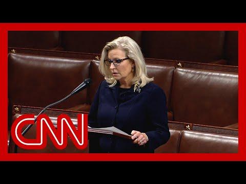 Watch Liz Cheney speak ahead of vote tomorrow to oust her 3