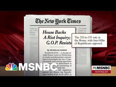 House Passes Bill To Create January 6 Commission   Morning Joe   MSNBC 8