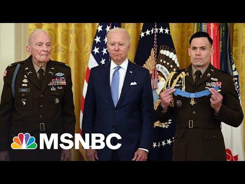 Biden Awards Medal Of Honor To Korean War Veteran Army Col. Puckett 1