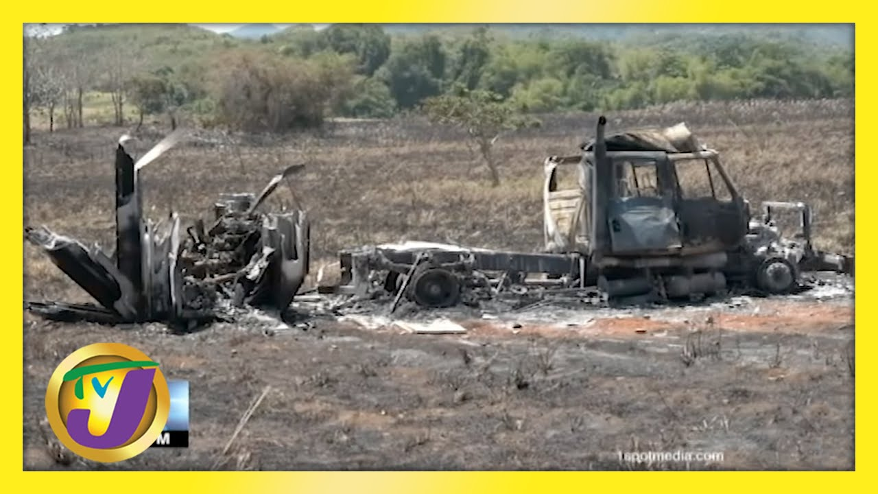 Trelawny Fire Truck Destroyed by Fire   TVJ News - May 14 2021 1