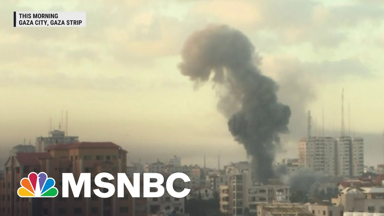 Israeli Jets Launch More Than 100 Missiles Into The Gaza Strip| MSNBC 1