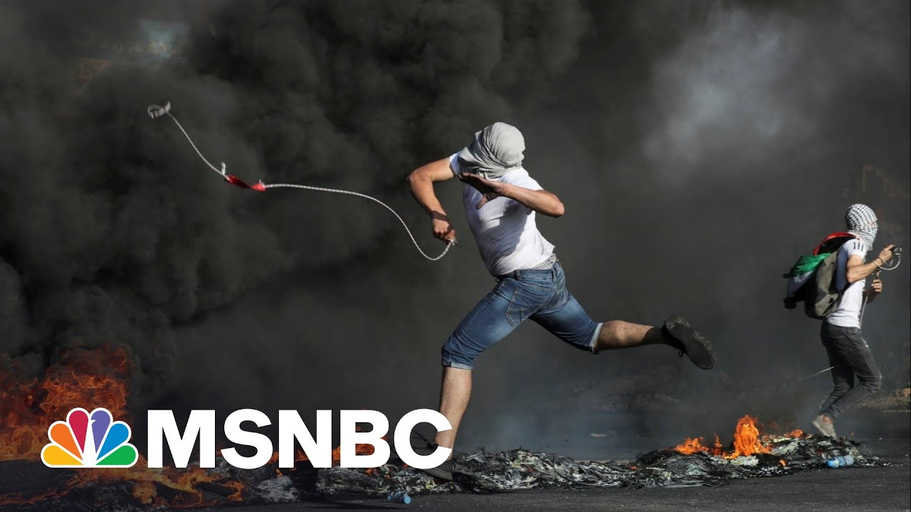 NBC's Richard Engel Reports From Active Demonstration In West Bank 1