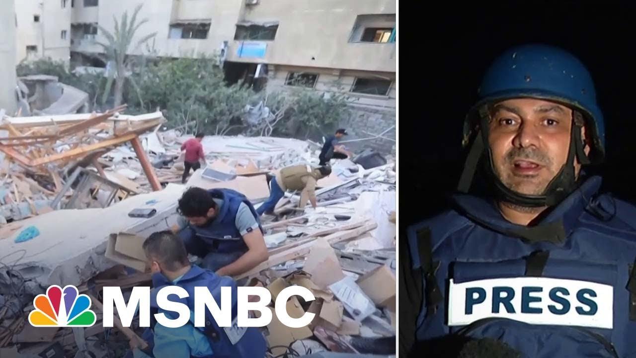 Journalists Rushed To Save Equipment Ahead Of Israeli Airstrike 1