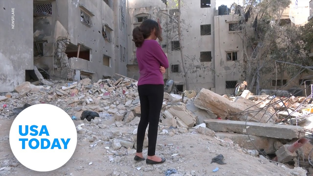 Kid living in Gaza explains the horrifying things happening to her home | USA TODAY 9