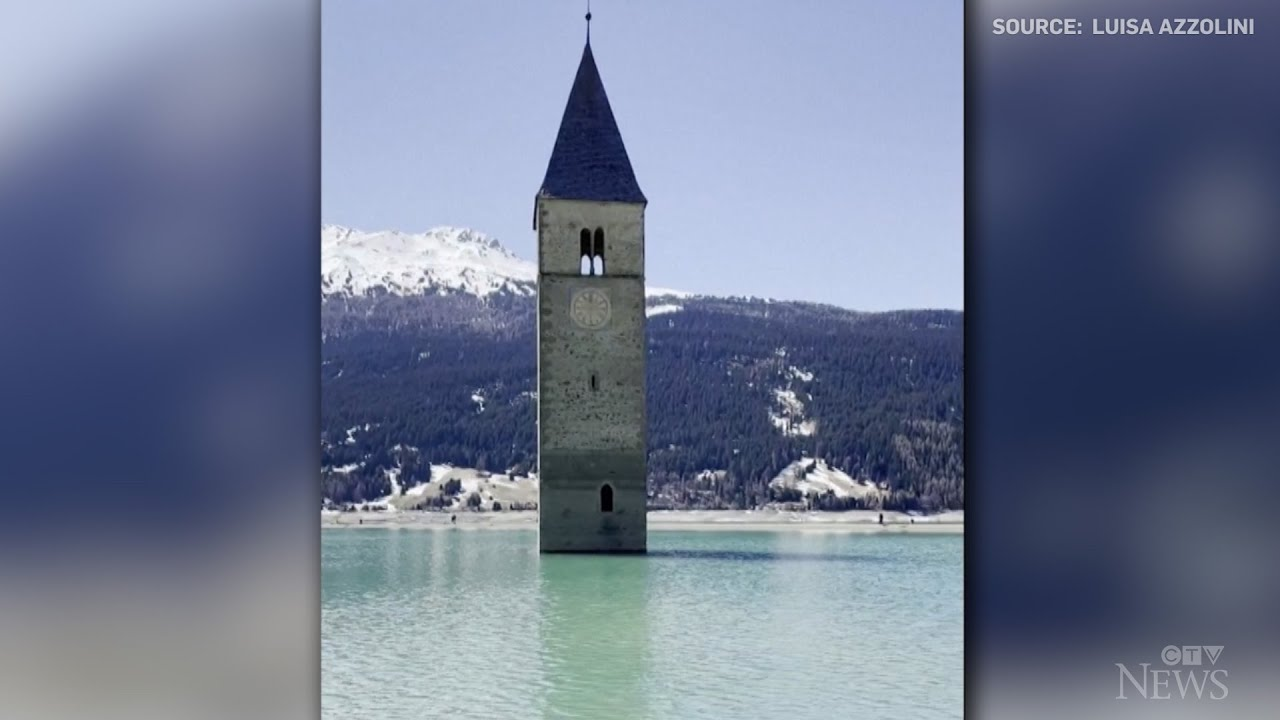 Flooded Italian village visible for first time in decades 5