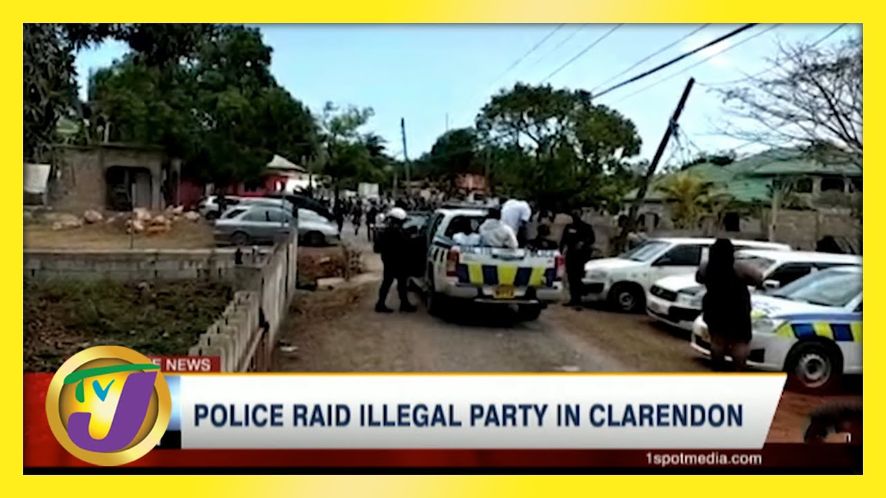 Police Raid Illegal Party in Clarendon, Jamaica   TVJ News - May 23 2021 1