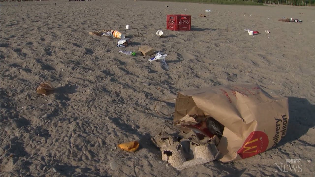 Popular Toronto beach littered by partygoers 1