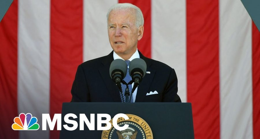 Biden Delivers Memorial Day Remarks At Arlington National Cemetery 1