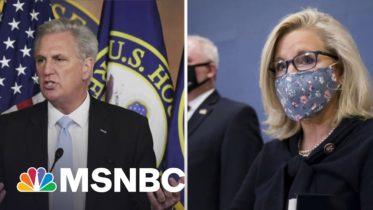 Axios: Kevin McCarthy Caught Criticizing Liz Cheney On Hot Mic | Katy Tur | MSNBC 6