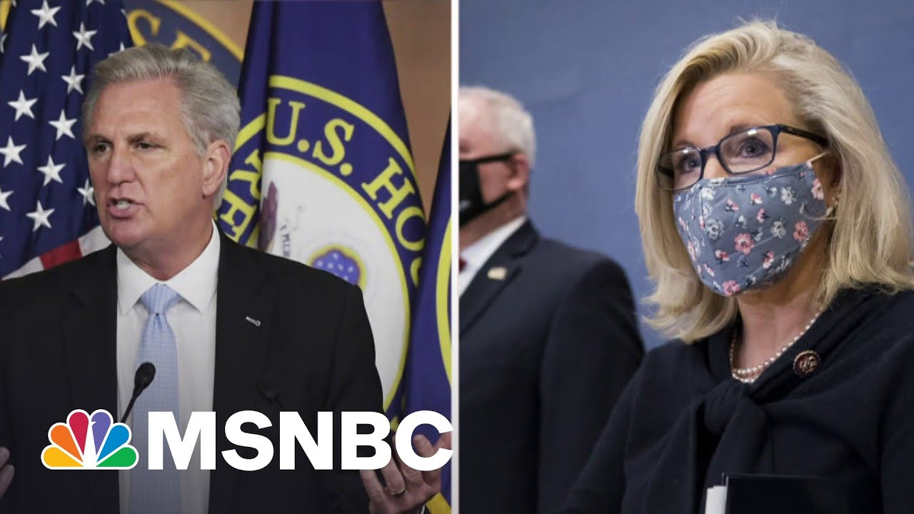 Axios: Kevin McCarthy Caught Criticizing Liz Cheney On Hot Mic | Katy Tur | MSNBC 1
