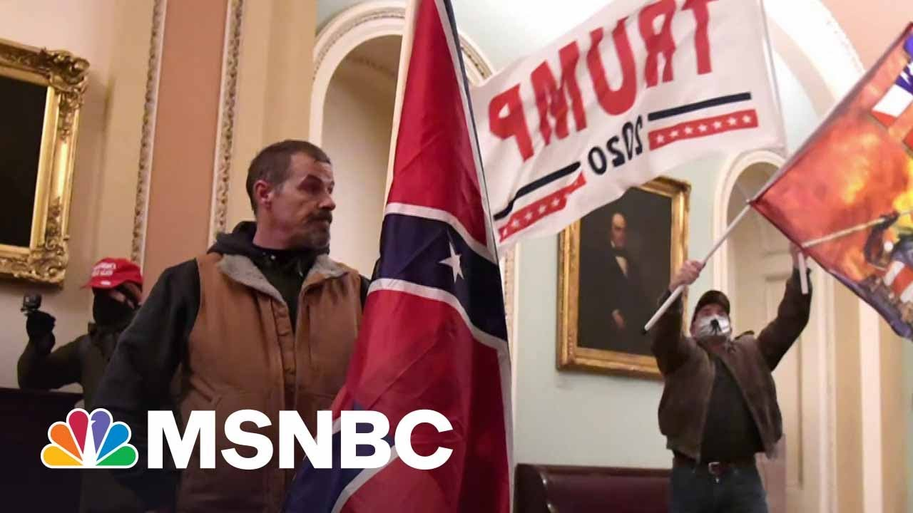 Man Who Broke Into Capitol With Confederate Flag Appears In Court | MSNBC 1