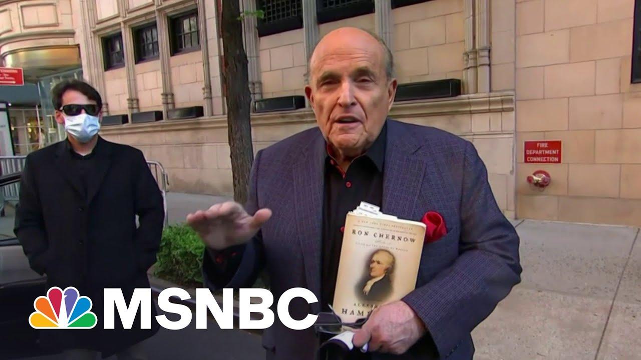 'Deep sh**': Giuliani Criminal Raid Has Trump Worried | The Beat With Ari Melber | MSNBC 1