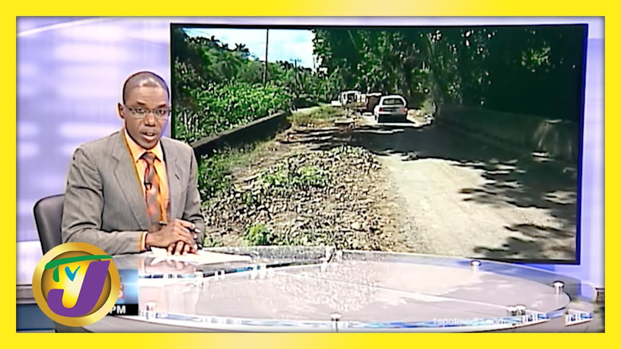 Residents in St. Mary Jamaica Complain About Roads | TVJ News - May 1 2021 1