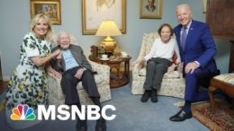 Why The Bidens Look Much Larger Than The Carters In This Photo | The 11th Hour | MSNBC 8