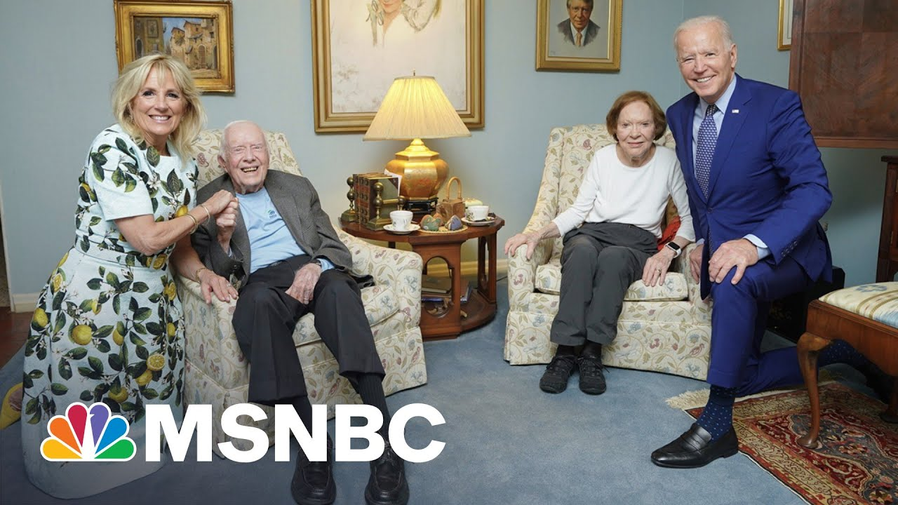 Why The Bidens Look Much Larger Than The Carters In This Photo   The 11th Hour   MSNBC 1