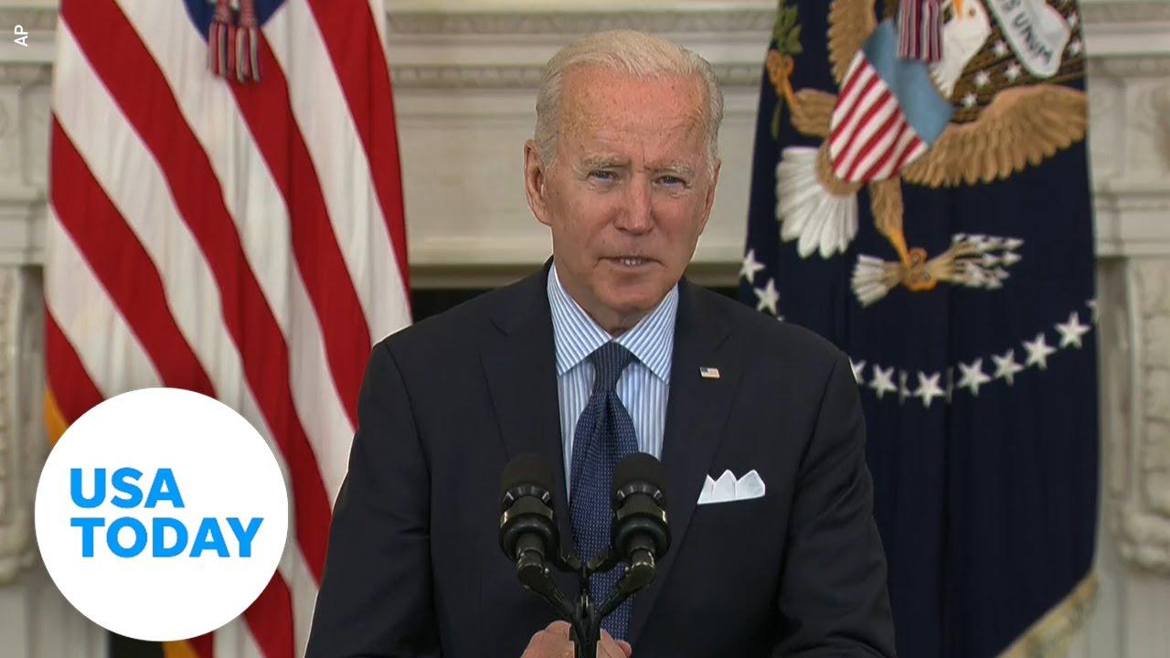 Pres. Biden gives an announcement on his American Rescue Plan   USA TODAY 2