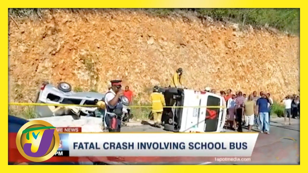 Fatal Crash involving School Bus in Jamaica | TVJ News - May 4 2021 1