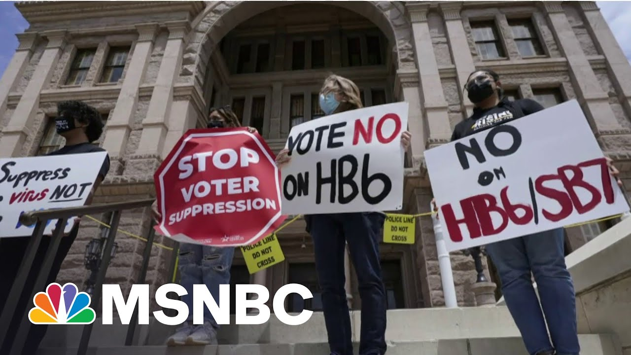Protesters Swarm Texas Statehouse As Lawmakers Vote On Restrictive Voting Bill | MSNBC 1