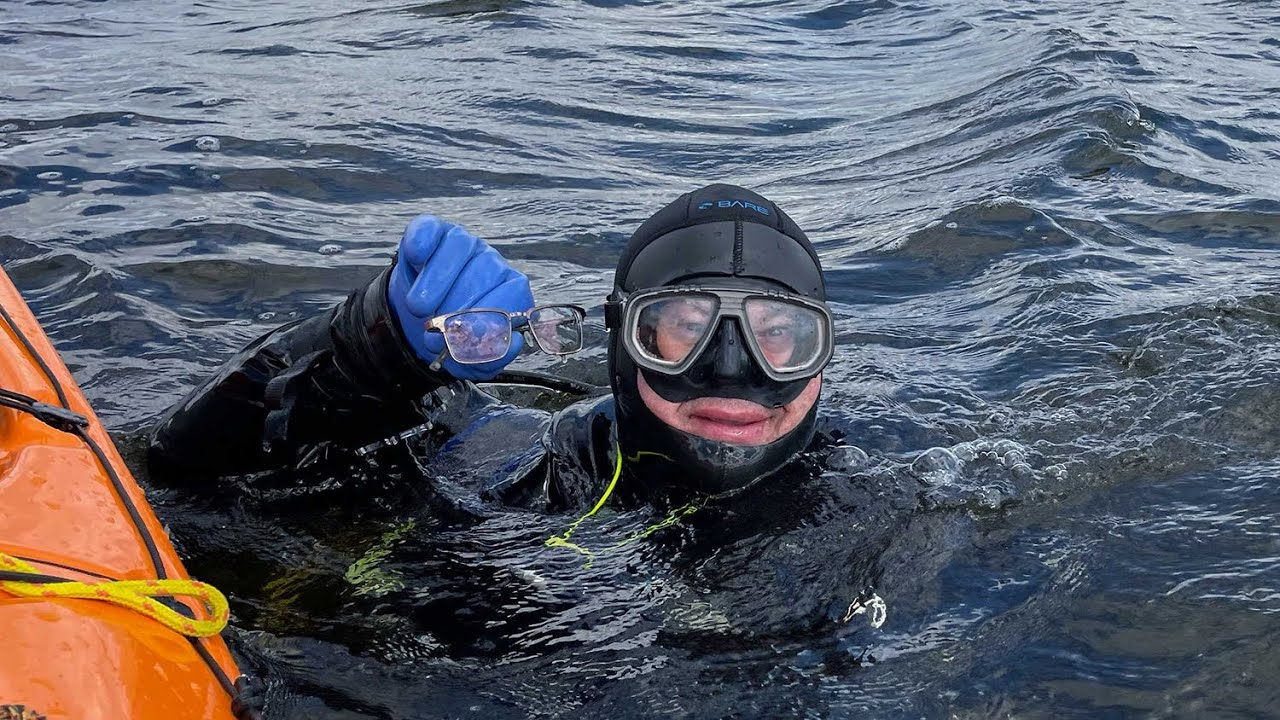 An Alta. diver dropped his glasses in a 54 km2 lake, and he retrieved them months later 1