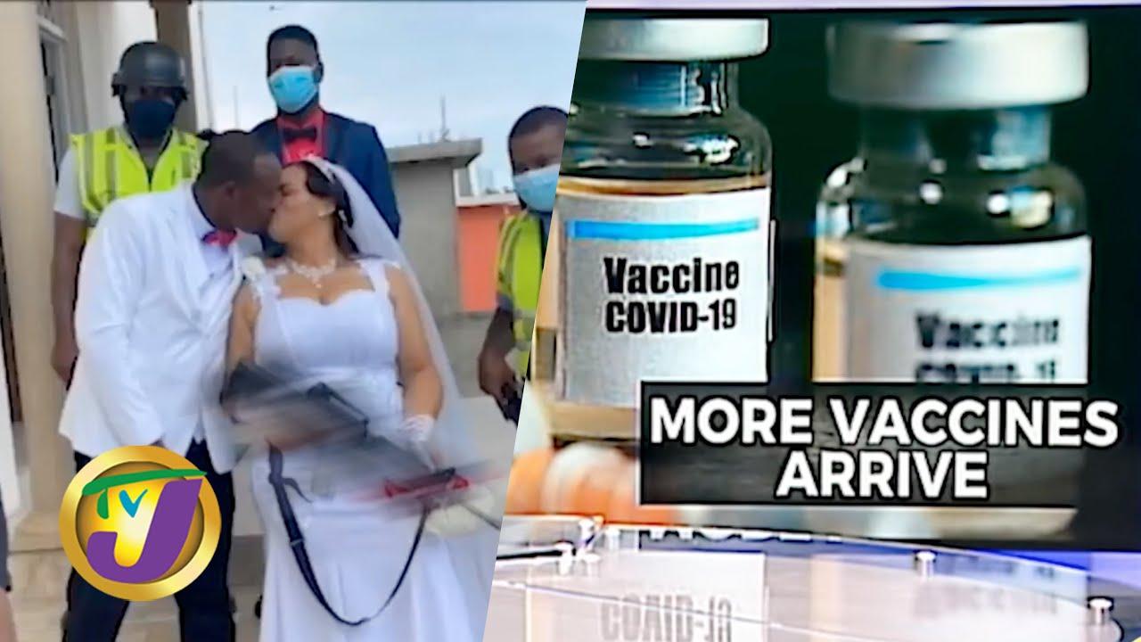Escaping Death | Jamaican Police Couple Gun Wedding | Jamaica Receive Vaccine 1