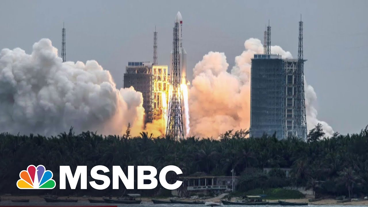 Used Chinese Rocket Debris Could Hit Earth This Weekend | The 11th Hour | MSNBC 8