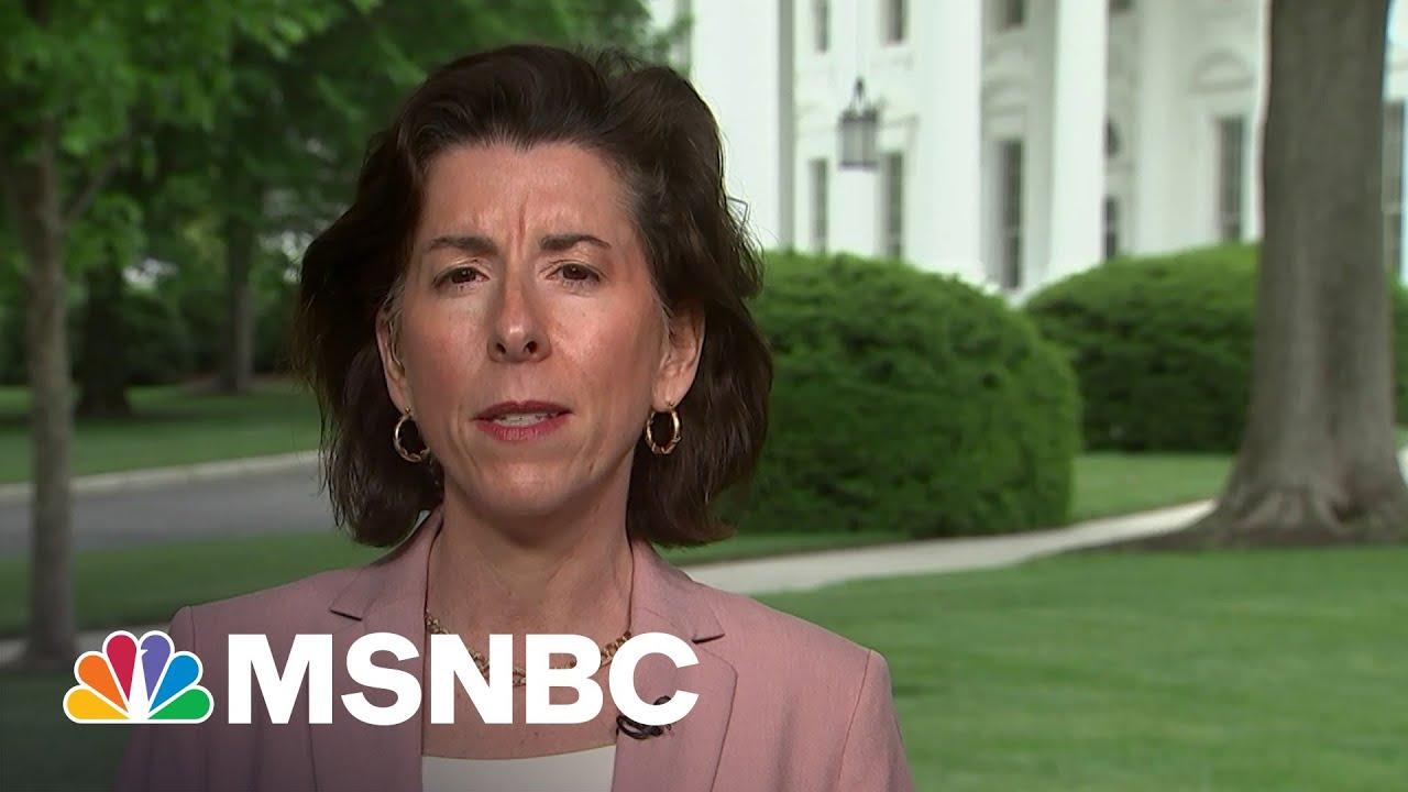 Commerce Sec. Raimondo On Biden's Vow Not To Deficit Spend To Pay For Legislative Priorities | MSNBC 4