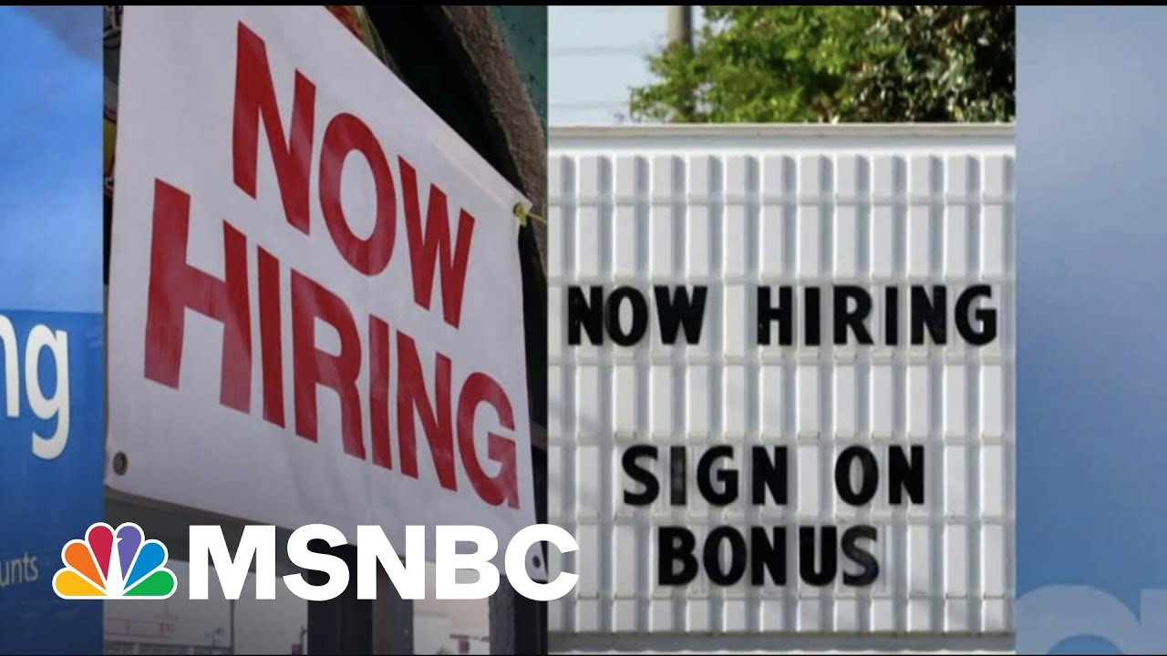 What The Latest Weak Jobs Report Means For A Post-Covid Economy | The 11th Hour | MSNBC 1