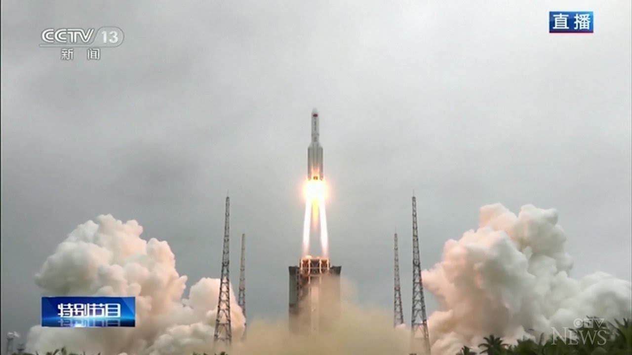 Chinese rocket crashes in the Indian ocean 1