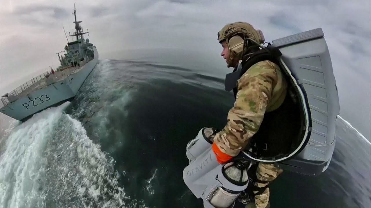 This jet suit is being tested by the U.K.'s Royal Navy 1