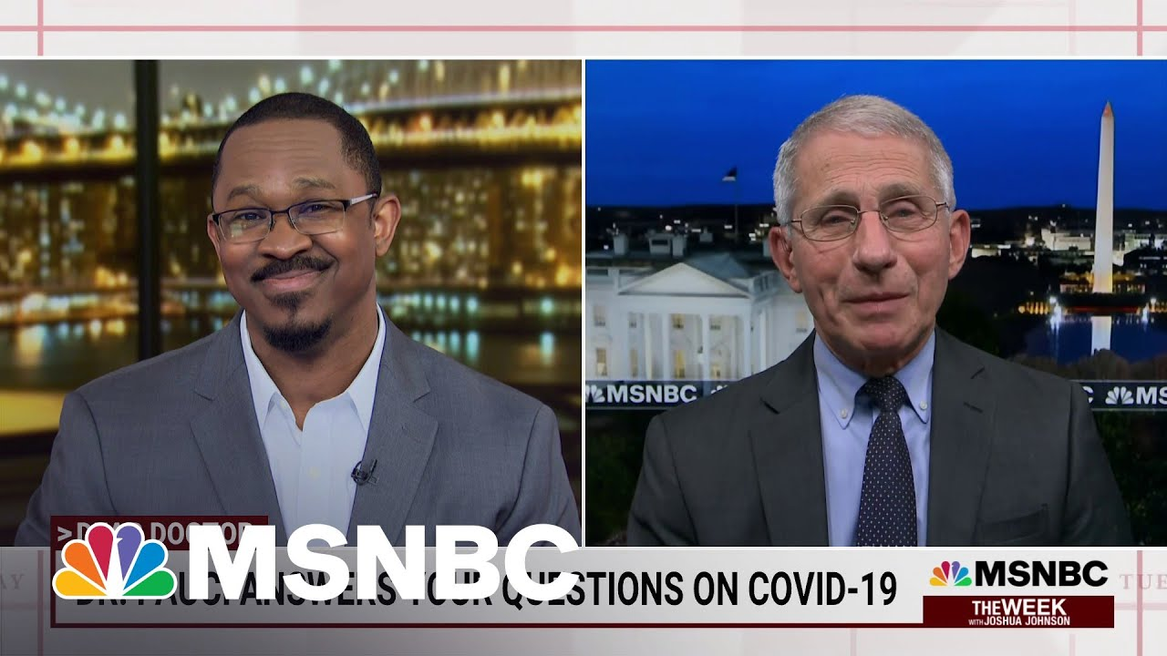 Dr. Anthony Fauci On The U.S. Fight Against Covid-19 | Joshua Johnson | MSNBC 1