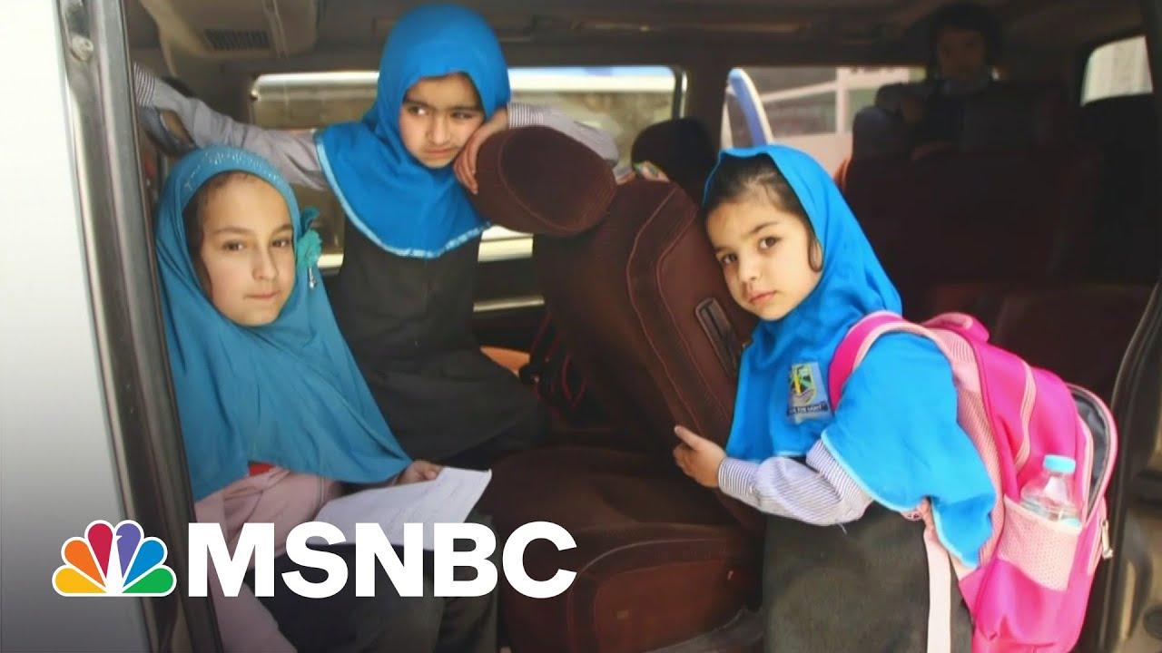 Afghan Girls Return To School After Taliban Bombing Kills 60 | Andrea Mitchell | MSNBC 1