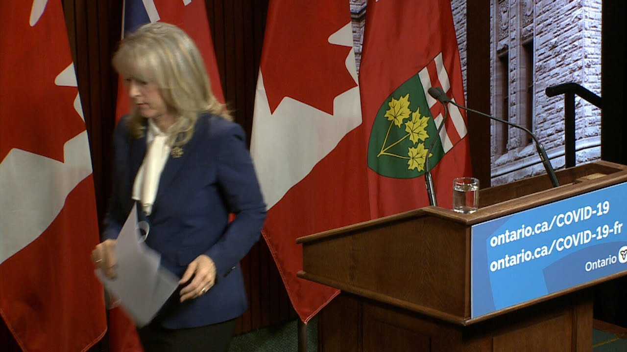 WATCH: Ontario's long-term care minister walks out of press conference | COVID-19 crisis in Canada 1